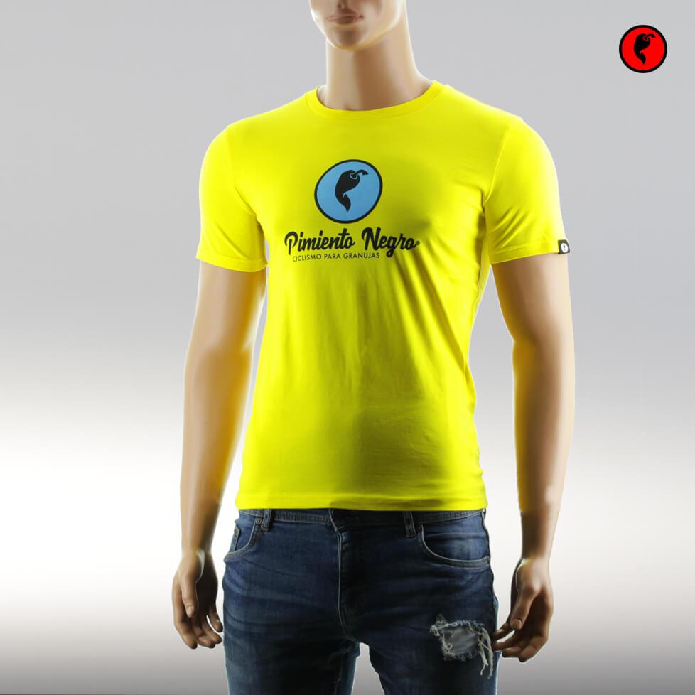 Camiseta de ciclismo original amarilla