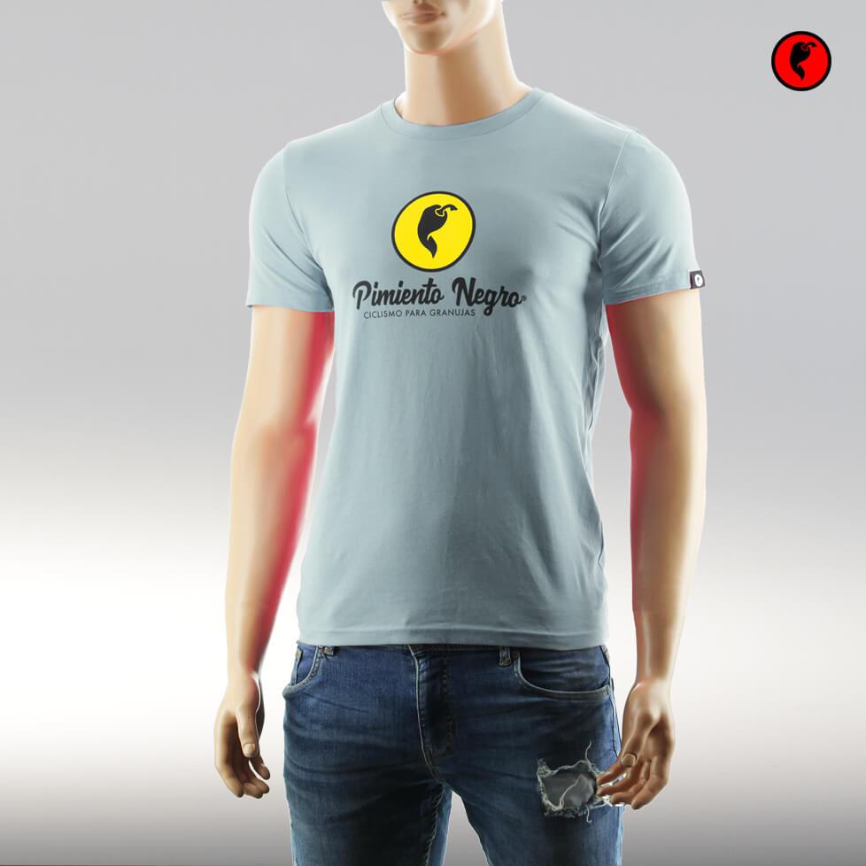 Camiseta de ciclismo original azul claro