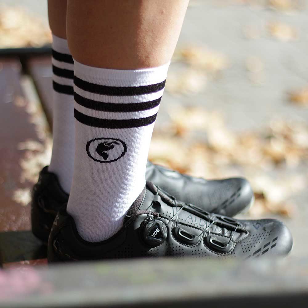 Calcetines ciclismo blancos