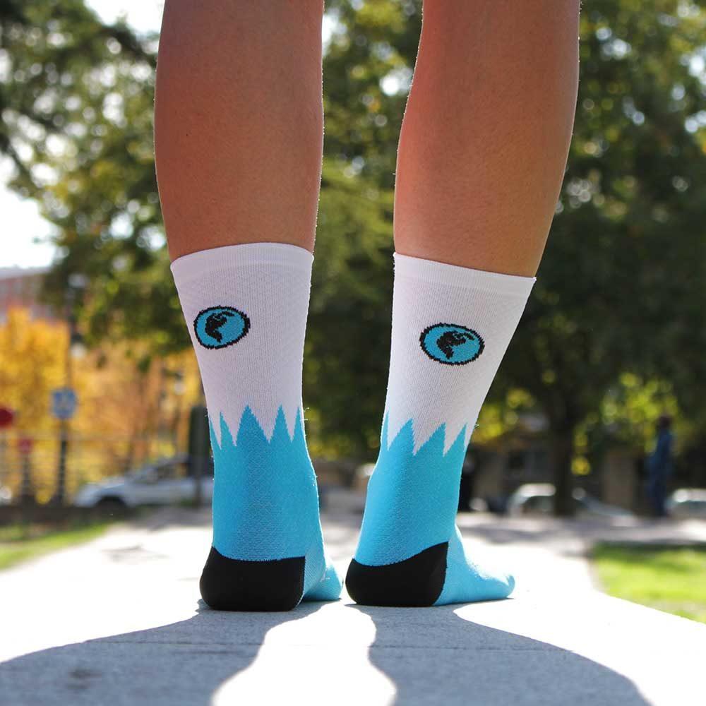 Calcetines running azules