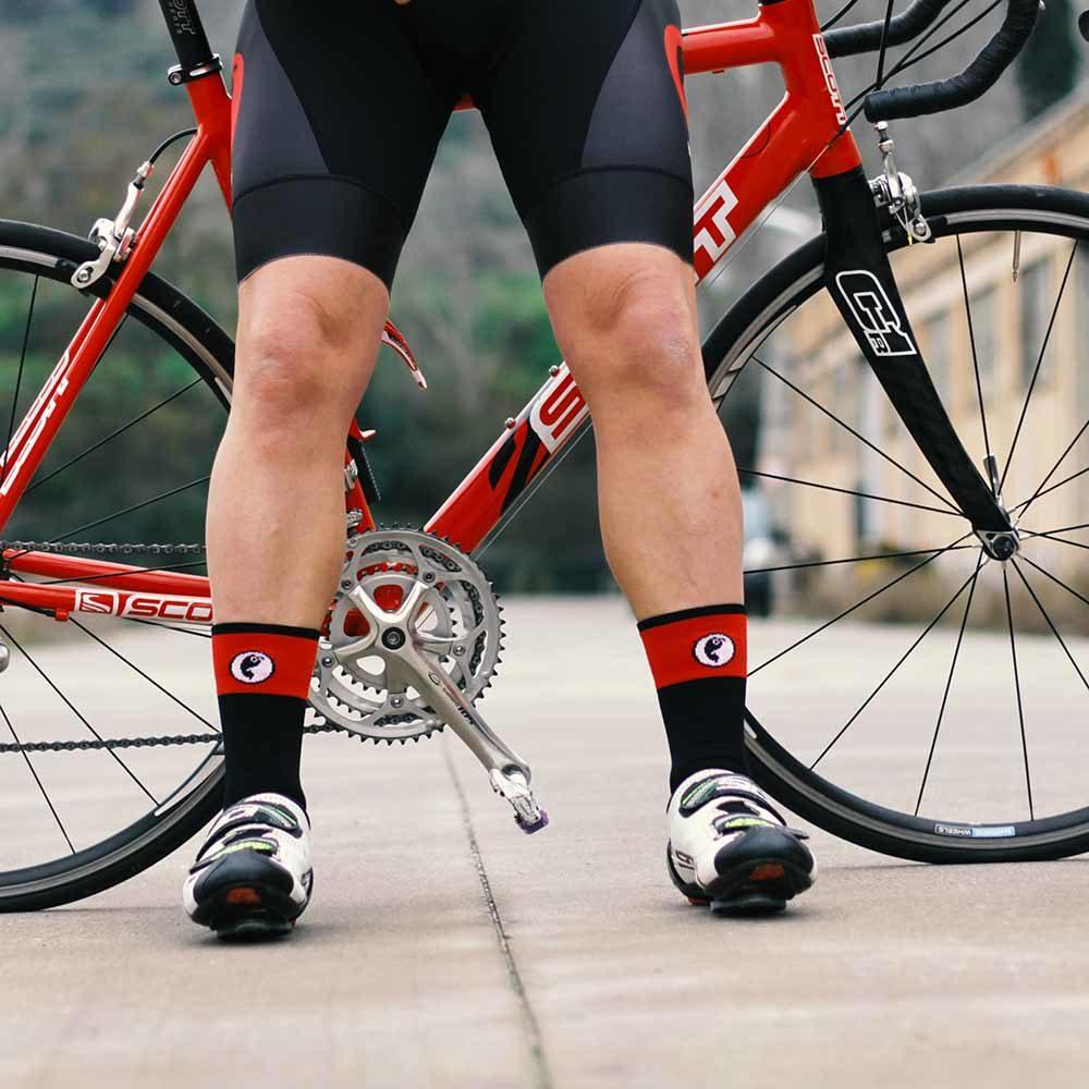 Calcetines ciclismo con franja