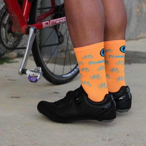 Calcetines ciclismo naranjas