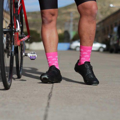 Calcetines ciclismo rosas
