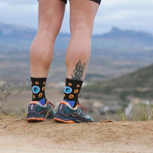 Calcetines de trail llamativos